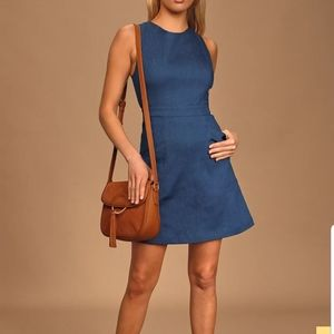 Lulus That's Jean-ius Blue Chambray Dress